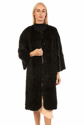 RRP €1710 SALVATORE SANTORO Rabbit Fur Coat Size IT 42 S Crew Neck Made in Italy