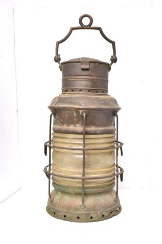 "Antique Ships Lantern Large Copper 24"" tall ""National Marine"" nautical lamp LARG"