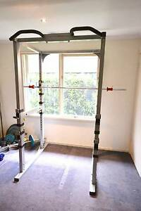 Gym Power Cage / Squat Rack & Brand New Olympic 7 foot Barbell Spotswood Hobsons Bay Area Preview