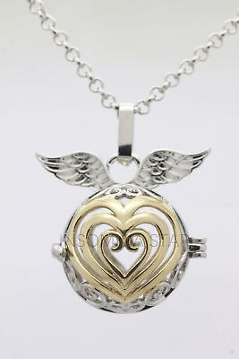 Angel Diffuser Necklace - Harmony Ball Pendant Lockets Essential Oil Perfume Diffuser Necklace Angel Love