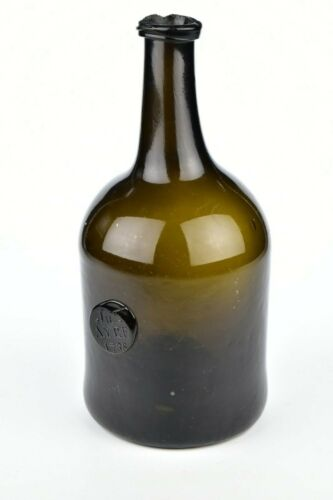 English Seal Bottle Unlisted 18th Century Dated 1788