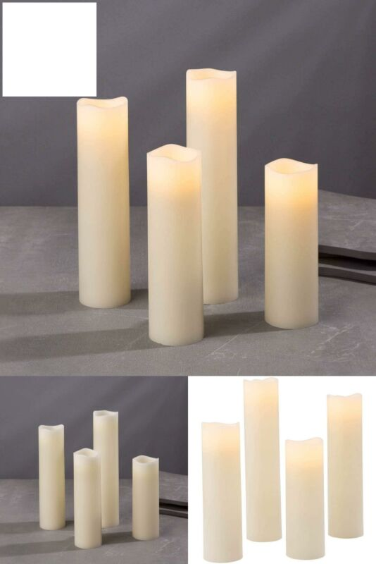 Flameless Candle Set, 2 Inch Diameter - Battery Operated, 4
