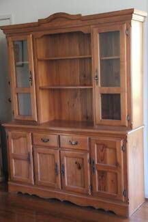 Solid wooden 4 door buffet kitchen hutch
