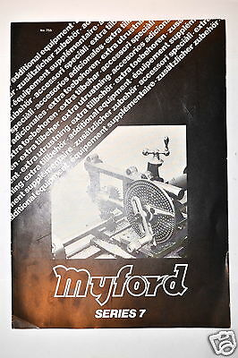 Myford Lathe Series 7 Accessories Advertisement Brochure Rr242