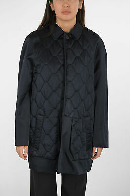 NEIL BARRETT women Jackets Coat Caban Quilted Standard Fit Blue 40 (Italy Size)