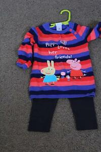 Size 2 Peppa Pig Jumper with tights Latrobe Latrobe Area Preview