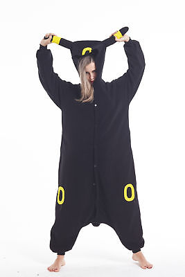 Women Men Unisex Adult Onesie0 Animal Umbreon Kigurumi Pajama Cosplay Costume (Mens Onesie Costume)