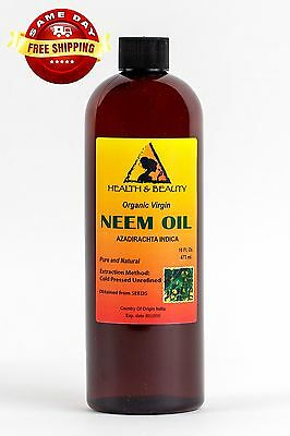 NEEM OIL ORGANIC UNREFINED CONCENTRATE VIRGIN COLD PRESSED RAW PURE 16 -