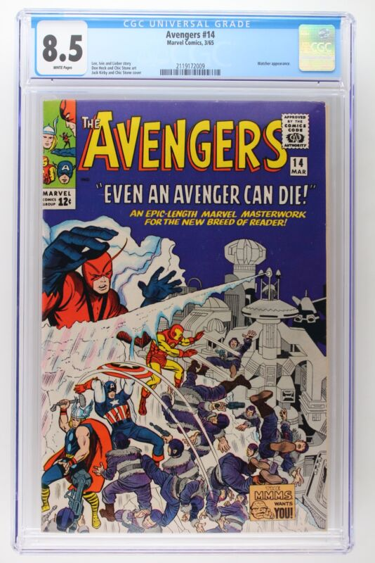 Avengers #14 - Marvel 1965 CGC 8.5 Watcher Appearance.