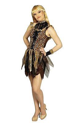 Kostüm Dschungel (Kostüm Urwald Dschungel Katze Neandertalerin Leokleid Gr.34-46 Karneval Fasching)