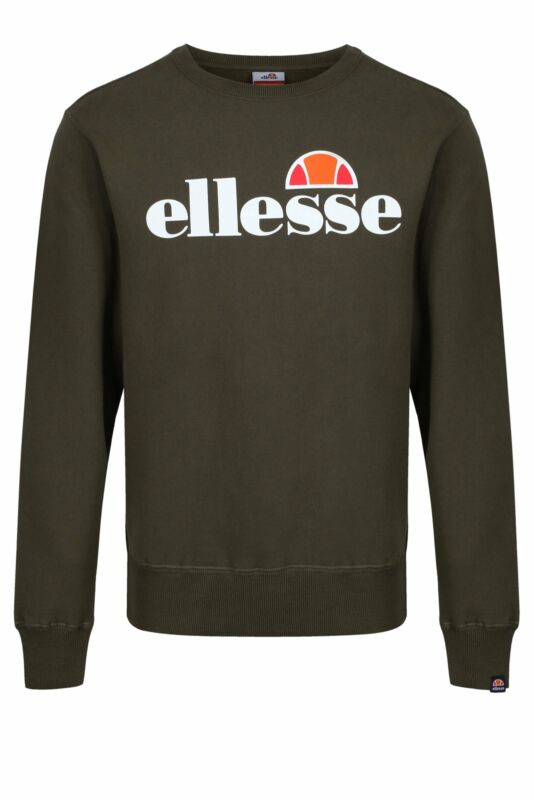 Mens Sweat Top ELLESSE Succiso Sweatshirt | Khaki