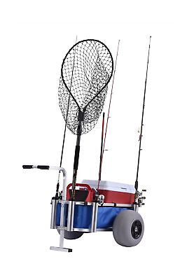 Muscle Fish Marine Cart Heavy Duty Polyurethane Low Pressure Tires Lake Pond New