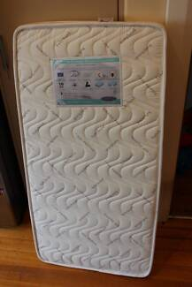 Cot Mattress - Innerspring 1200 x 600 mm - as new