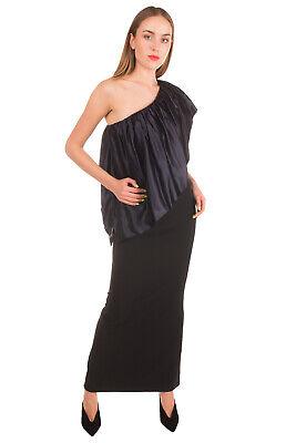 RRP €650 SACHIN & BABI Maxi Bodycon Dress Size 2 Satin Overlay One Shoulder