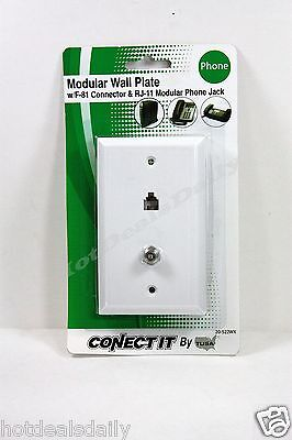 BELL PHONE ACCESSORIES WHITE MODULAR TELEPHONE AND VIDEO JAC