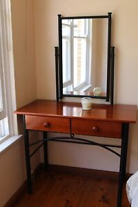 BARGAIN! Dressing table & mirror - timber and wrought iron. Bardwell Park Rockdale Area Preview