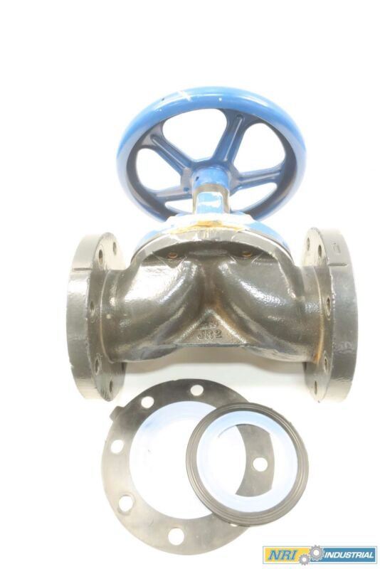 Saunders 4 In Dn 100 Iron Flanged Diaphragm Valve
