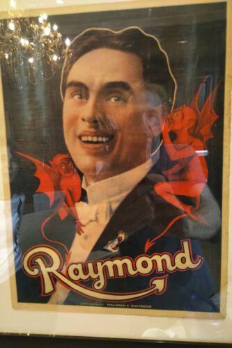 Original Great Raymond Poster and 2. Original Great Raymond Business Card