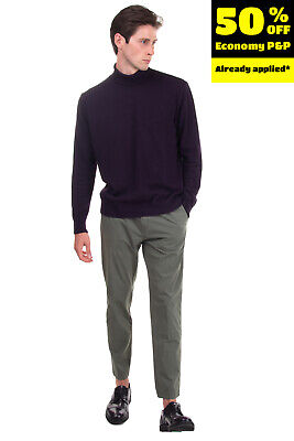 RRP€145 BE ABLE Chino Trousers Size 35 Stretch Pleated Garment Dye Made in Italy
