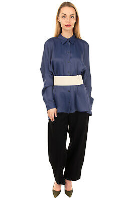 RRP €440 MM6 MAISON MARGIELA Oversized Top Blouse Size 44 L Belted Made in Italy