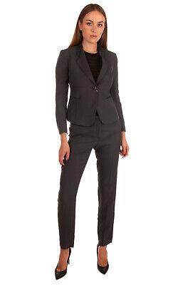 RRP €1055 ARMANI COLLEZIONI Trouser Suit Size 42 / M Silk Blend Flat Front