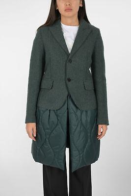 NEIL BARRETT women Jackets Coat Caban Quilted Skinny Fit Melange Green 40 (It...