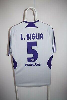 Belgian Football Classics RSC Anderlecht 2006-07 Home shirt #5 Lucas Biglia RARE image