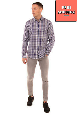 OBVIOUS BASIC Shirt Size 38 / 15 / S Gingham Pattern Button-Up Regular Collar