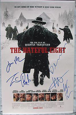 The Hateful Eight Cast Signed 11X17 Photo Jennifer Jason Leigh Tim Roth Dc Coa