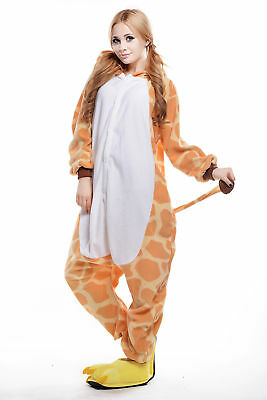 Giraffe Women Men Adult Pajama Halloween Kigurumi Animal Cosplay Costume Onesie0