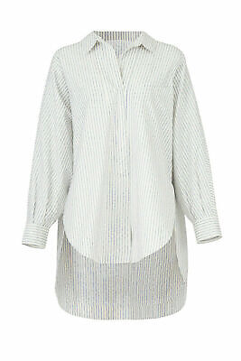 Opening Ceremony Women's Top White Size 10 Button Down Logo Striped $375- #013