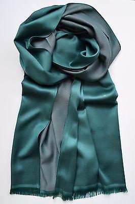 Eleganter Seiden Schal für Herren, Dunkelgrün - lässige Eleganz mit 100 % Seide