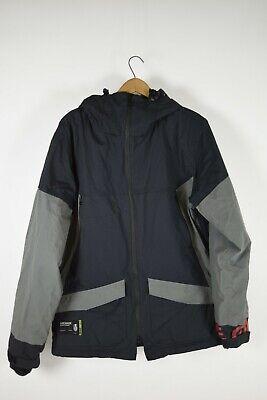 Grenade Black Gray Snowboard Jacket Mens Large