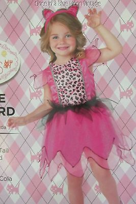 Girls 2T Little Leopard Cat Pink Black DressTail Ears Dress Costume Dress-ups - Little Girl Black Cat Costume