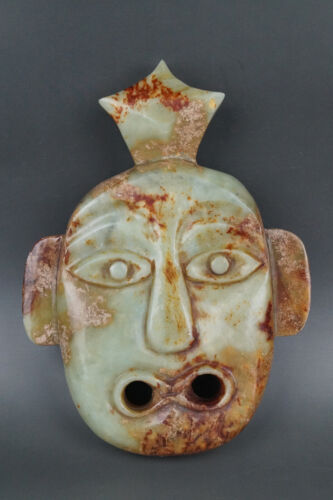 A Fine Collection of Chinese Antique Hetian Jade Mask