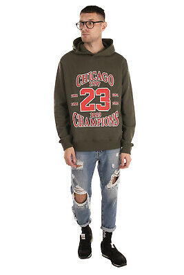 RRP €475 IH NOM UH NIT Hoodie Size L Coated Front Kangaroo Pocket Made in Italy