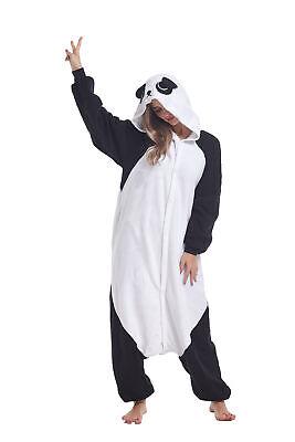 Adult Animal Halloween Costume (Panda Adult Animal Pajamas Halloween Cosplay Costumes Kigurumi Onesie0)