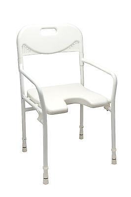 Faltbarer Duschstuhl (Duschhocker Duschstuhl mit Arm- und Rückenlehne, faltbar, weiß)