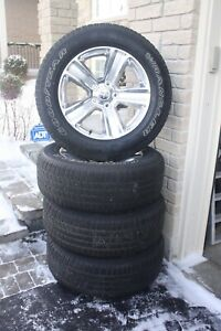 Set of 4 tires and rims for Dodge Ram 1500