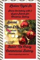Ladies night in Christmas cookie  baking