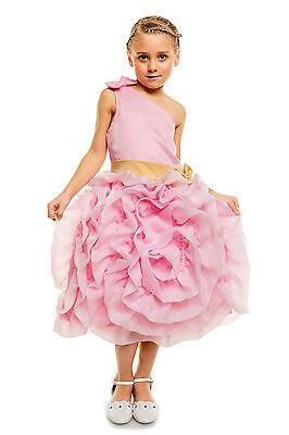 Blumen-mädchen-kleider In Pink (NEU Blumenmädchen Brautjungfer Party in Elfenbein Pink 3 4 5 6 7 8 9 Jahre)