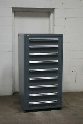 Used Stanley Vidmar 9 Drawer Cabinet Industrial Tool Storage Bin 2158