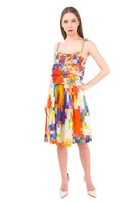RRP €215 ROBERTO CAVALLI CLASS Sundress Size 44 / L Multicoloured Made in Italy