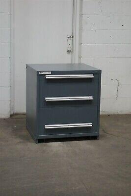 Used Stanley Vidmar 3 Drawer Cabinet 33 High Industrial Tool Storage 2189