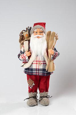 Dekorativer Weihnachtsmann stehend ca.45cm Santa Claus Nikolaus rot Neu WOW 1/5
