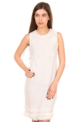 RRP €335 ERMANNO ERMANNO SCERVINO Hemp Sheath Dress Size 40 Made in Italy