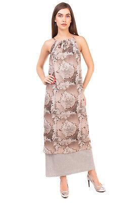 RRP €100 JIJIL Maxi Overlay Dress Size 40 Honeycomb Print Sleeveless Halterneck