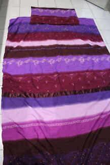 Purple and pink single bed doona cover ideal for little girls roo