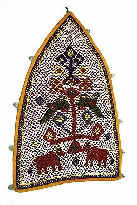 Kutch Heavy Beaded Wall Hanging Décor Vintage Rare Hand Embroidery. i17-348 UK