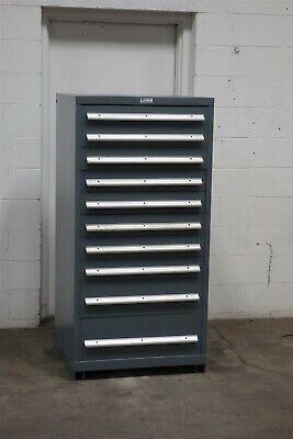 Used Nu-era 10 Drawer Cabinet Industrial Tool Parts Storage 2194 Vidmar